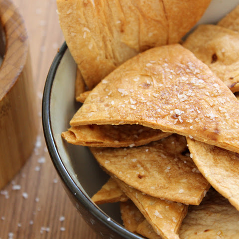 Baked Flour Tortilla Chips, Crisp and Flaky