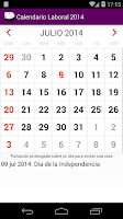 Screenshot of Argentina 2015 Calendar