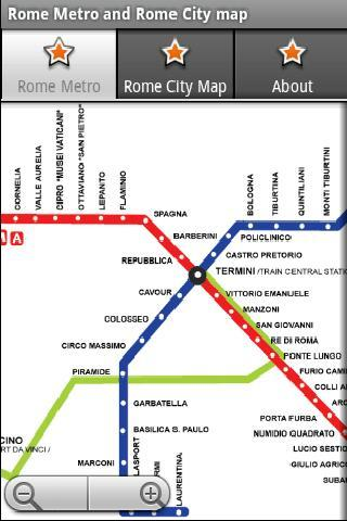罗马地铁运行图 罗马地图