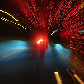 Time Travel by Matt Dittsworth - Abstract Light Painting ( time, red, tiem, zoom, shutter, light )