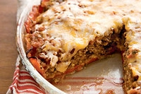 Easy and Delicious Crustless Tex-Mex Meatloaf-Cheddar Pie Recipe by Makeeze Recipes