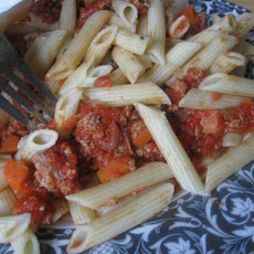 Authentic Rigatoni Bolognese