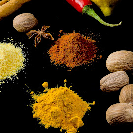 Spices by Emily James - Food & Drink Cooking & Baking ( spices; herbs; cummin; nutmeg; paprika )