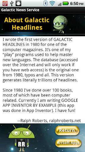 【免費新聞App】Galactic Headlines-APP點子