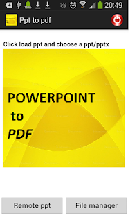 CONVERTER FOR PPT TO PDF - screenshot