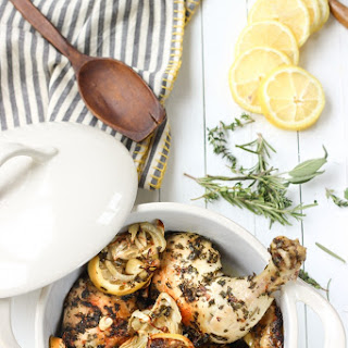 Lemon Herb Roasted Chicken and Fennel