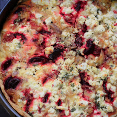 Roasted Beet and Feta Tart with Shallots and Thyme