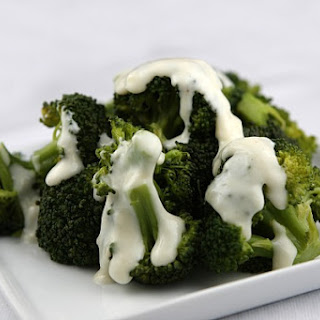 Broccoli w/ 2-Cheese Sauce