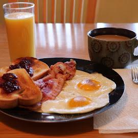 Breakfast  by Don Webb - Food & Drink Plated Food ( eggs )