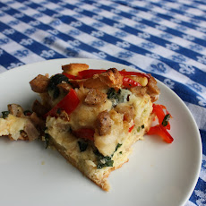 Egg, Sausage and Veggie Strata