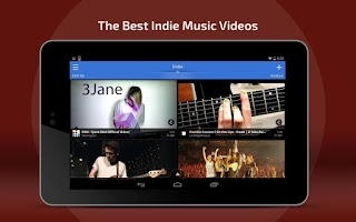 Screenshot of Indie Music Artists & Songs