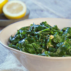 Blanched Spinach with Olive Oil and Lemon