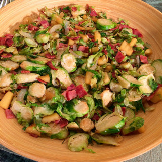 Brussels Sprouts with Apple, Bacon & Onion