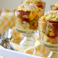 Coconut and Tropical Fruit Trifles