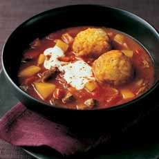 Goulash Soup with Dumplings