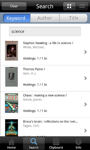 LibraryWorld Search