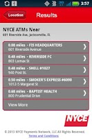 Screenshot of NYCE ATM Locator