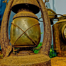Miners' Light by Barbara Brock - Artistic Objects Industrial Objects ( antique light, lantern, miner light, antique lantern, rusty lantern )