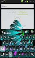 Screenshot of Colors Keyboard Neon
