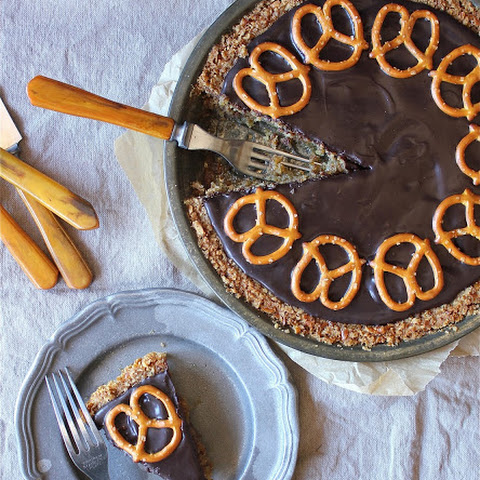 Chocolate Bourbon Pretzel Pie