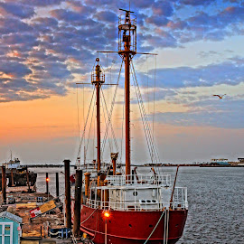 LV Natucket 01 by Jeff Stallard - Transportation Boats ( east boston, boston, lightship, nantucket, massachusetts )