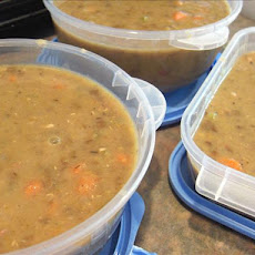 Lentil and Pea Soup (Ham Hocks)