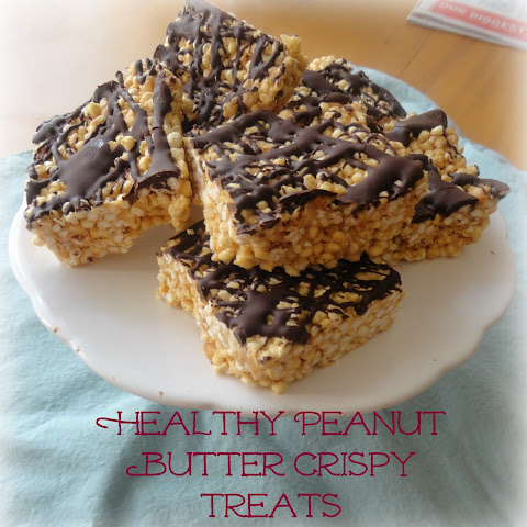 Healthy Peanut Butter Crispy Treats