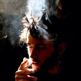 Hungover Rockstar by Jon Cardona - People Portraits of Men