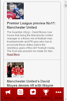 Screenshot of Man Utd News
