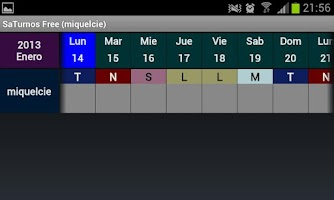 Screenshot of SaTurnos Free Calendar