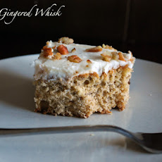 Roasted Banana Cake with Brown Butter Cream Cheese Frosting
