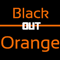 Blackout Orange Keyboard Skin