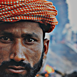 Harshness around...... by Arnab Bhattacharyya - People Portraits of Men