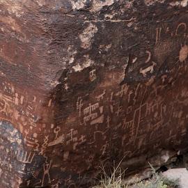 newspaper rock, close up by Debbie Theobald - Nature Up Close Rock & Stone ( natural light, nature, petroglyphs, arizona, rock,  )
