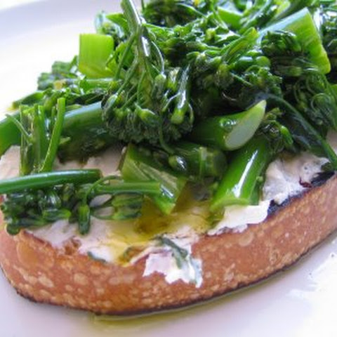 Spring Pea Crostini with Poached Eggs & Shaved Asparagus Salad Recipe ...