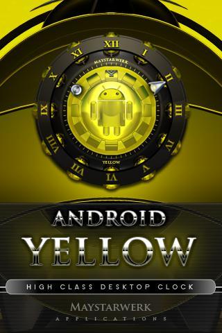 yellow clock widget