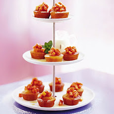 Orange Soured Cream Cakes With Syruped Papaya