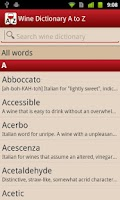 Screenshot of Wine Dictionary