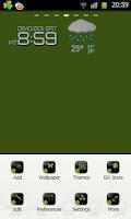 Screenshot of BlackGreen Go launcherEX Theme