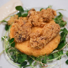 Cornmeal Fried Oysters & Polenta
