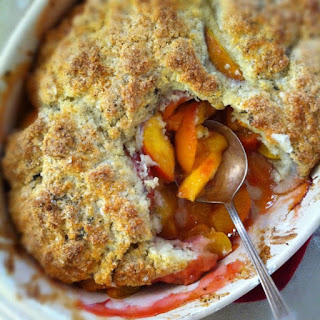 Vanilla-Biscuit Summer Peach & Plum Cobbler