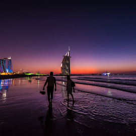 Together ... Forever by Babar Swaleheen - Buildings & Architecture Other Exteriors ( water, d800e, sunset, uae, sea, seaside, sunrise, nikon )