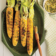 Grilled Corn on the Cob with Roasted Jalapeño Butter
