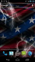 Screenshot of 3D Rebel Flag Live Wallpaper