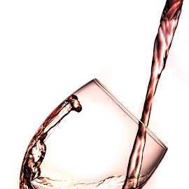 Pour by Joe Spena - Food & Drink Alcohol & Drinks ( water, wine, liquid, alcohol, drink, white, pour, glass, rim )