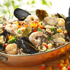 Seafood with Wild Rice