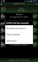 Screenshot of Jagdzeiten.de App