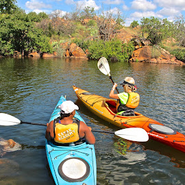 kayakers by Kathy Suttles - Sports & Fitness Watersports