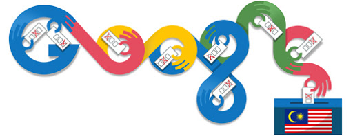 Google Doodle Malaysia Elections 2013