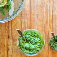 Winter Greens Gremolata and Pesto